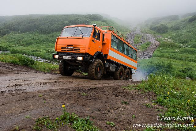 Rusi Kamchatka. Osos y volcanes